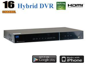 GW93116AHD-2TB Hybrid 16 Channel DVR (2TB HDD) 960H & 720P HDMI Output Compatible With All Analog Cameras & AHD Cameras QR-Code Scan Smartphone Remote CCTV Surveillance Security Camera Video Recorder