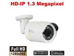 GW1337IP PoE (Power over Ethernet) IP Camera HD 960P 1.3MP Megapixel Weather Proof Out/Indoor 49 Feet IR CCTV Surveillance ONVIF Network Security Camera - Compatible with Seetong, Blue Iris, etc.