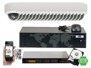 GW 24 Channel 1080P NVR Kit PoE HD IP Security Camera System (20)x 5MP Megapixel 2.8~12mm Varifocal Lens 65 Feet Night Vision Water Proof Motion Detective QR-Code Scan Remote Smartphone View (8TB HDD)