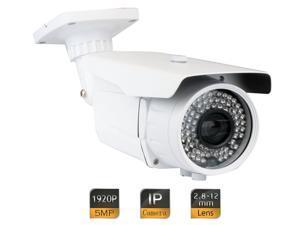 GW5081IP 2592 x 1920 Pixel 5MP HD 1920P Outdoor PoE (Power Over Ethernet) Security IP Camera 6~22mm Varifocal Zoom Lens Long Range Design 180 Feet IR Distance - Compatible with APPs Danale & Blue Iris