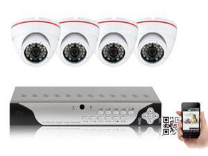 GW 960H 4 x Camera 1200 TVL High Resolution Security Camera System with 500GB Hard Drive Plug-N-Play Complete DIY Surveillance System