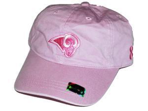 St Louis Rams Women's Hat Cap Reebok Pink Susan G. Komen Relax Adjustable
