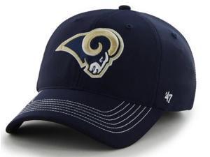 St. Louis Rams 47 Brand Navy Game Time Closer Performance Flexfit Hat Cap