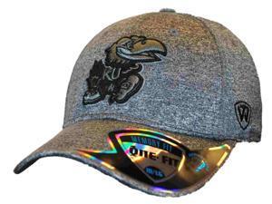 Kansas Jayhawks Top of the World Gray Steam Memory Fit Flexfit Hat Cap (M/L)
