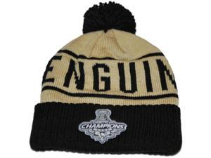 Pittsburgh Penguins Mitchell & Ness Gold 2009 Stanley Cup Champs Cuffed Beanie