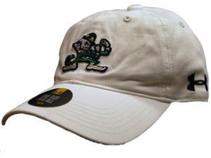 Notre Dame Fighting Irish Under Armour Youth Adjustable Slouch White Adj Hat Cap