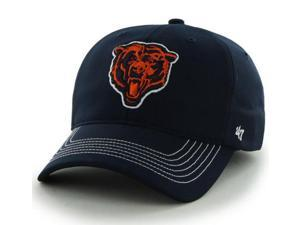 Chicago Bears 47 Brand Navy Bear Logo Game Time Performance Flexfit Hat Cap