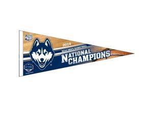 "Uconn Huskies Basketball NCAA National Champions 12""x30"" Premium Felt Pennant"