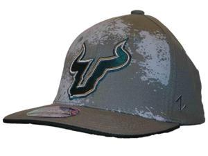 South Florida Bulls Hat Cap Zephyr Epicenter Dark Gray Green Flexfit (S/M)