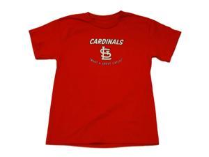 St. Louis Cardinals SAAG Youth Boys Red Great Catch Cotton T-Shirt (S)