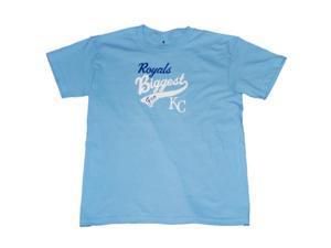 Kansas City Royals SAAG Youth Boys Powder Blue Biggest Fan Cotton T-Shirt (L)