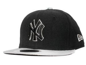 New York Yankees New Era Youth Black Gray 59Fifty Fitted Hat Cap (6 3/8)
