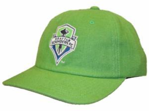 Seattle Sounders FC Mitchell & Ness Green Canvas Slouch Snapback Hat Cap