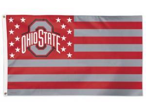 Ohio State Buckeyes America Stars & Stripes Deluxe Indoor Outdoor Flag (3' x 5')