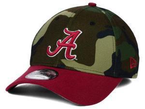 Alabama Crimson Tide New Era Camo Red 39Thirty Flexfit Hat Cap (S/M)
