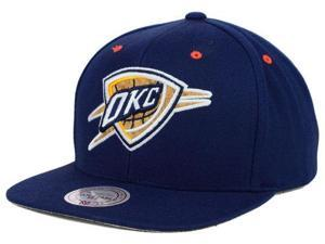 Oklahoma City Thunder Mitchell & Ness Navy Cork Adjustable Snapback Hat Cap