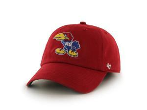 Kansas Jayhawks 47 Brand Red Franchise 1941 Angry Jayhawk Fitted Hat Cap (M)