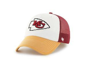 Kansas City Chiefs 47 Brand Tri-Tone Privateer Closer Flexfit Slouch Hat Cap