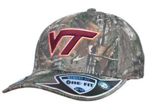 Virginia Tech Hokies TOW Camo Realtree Xtra Memory Foam Flexfit Hat Cap (M/L)
