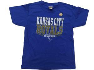 Kansas City Royals SAAG YOUTH 2015 American League Champions T-Shirt (XS)