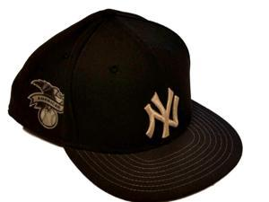 New York Yankees New Era 59Fifty Black Metallic Fitted Structured Hat Cap (8)