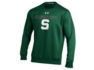 Michigan State Spartans Under Armour Green ColdGear Fleece Crew Sweatshirt (M)