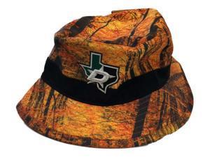 Dallas Stars Mitchell & Ness Orange Camo Hunting Polyester Bucket Hat Cap
