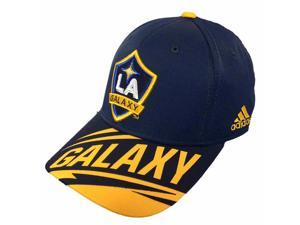 LA Galaxy MLS Adidas Navy Miracle Patch Weld One Structured Adj. Hat Cap