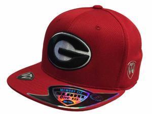 Georgia Bulldogs Top of the World G FlatBill Polyester Memory Foam Hat Cap (M/L)
