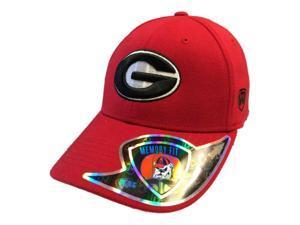 Georgia Bulldogs Top of the World Memory Fit Foam Red Structured Hat Cap (M/L)