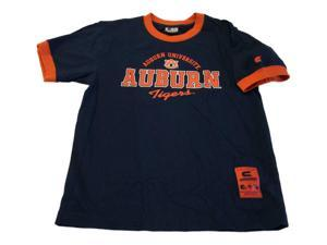 Auburn Tigers Colosseum YOUTH Boys 16-18 Navy Ringed Neck T-Shirt (L)