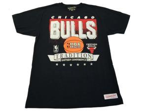 """Chicago Bulls NBA Mitchell & Ness Black """"Eastern Conference"""" Graphic T-Shirt (L)"""