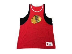 Chicago Blackhawks Mitchell & Ness NHL Sleeveless Tank Top Red Black Shirt (L)