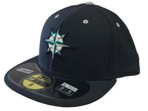 Seattle Mariners New Era 59Fifty NE Tech Navy Performance Fitted Hat Cap (8)