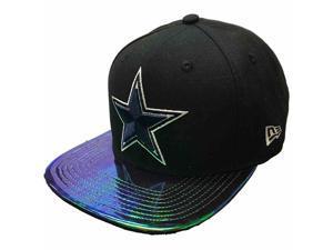 Dallas Cowboys NFL New Era Black 9FIFTY Snapback Reflective Flat Bill Hat Cap