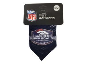 Denver Broncos NFL Hunter MFG Navy Super Bowl 50 Champions Pet Bandana (S/M)
