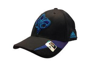Charlotte Hornets Adidas Black Performance Flexfit Structured Hat Cap (S/M)
