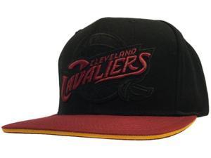 Cleveland Cavaliers Mitchell and Ness Cavs Flat Bill Black Maroon Adj Hat Cap