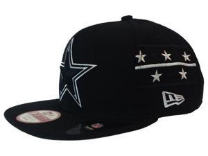 Dallas Cowboys New Era Black Stars & Stripes 9Fifty Adjustable Snapback Hat Cap