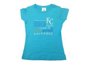 Kansas City Royals SAAG TODDLER Girls Aqua Big Fan Long Length T-Shirt (2T)
