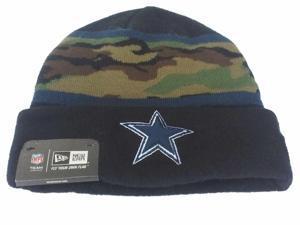Dallas Cowboys New Era YOUTH Black Green & Navy Camo Cuffed Knit Beanie Cap