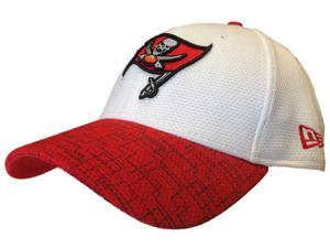 Tampa Bay Buccaneers New Era 39Thirty White & Red Flexfit Hat Cap (S/M)