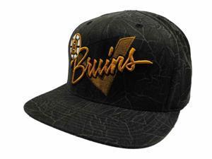Boston Bruins Mitchell & Ness NHL 100% Nylon Flat Bill Gray Adj Snapback Hat Cap