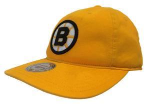 Boston Bruins Mitchell & Ness Cotton NHL Gold Black Snapback Adjustable Hat Cap