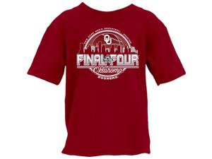 Oklahoma Sooners 2016 Final Four Basketball Houston Skyline YOUTH T-Shirt (XL)