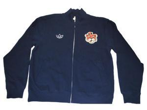 Auburn Tigers Adidas Mens Heavy Cotton Blend Vintage Logo Navy Jacket (L)