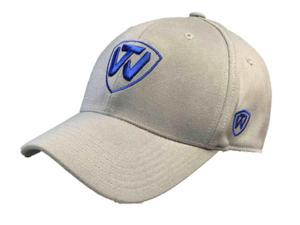 Top of the World Gray Blue Logo Memory Fit Flexfit Structured Hat Cap (L/XL)