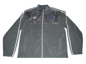 UCLA Bruins Adidas Mens Embroidered Logo Zip Up Fleece Gray Jacket (L)