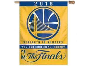 Golden State Warriors 2016 Western Conference Champions Finals Vertical Flag