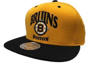 Boston Bruins Mitchell & Ness NHL Acrylic Gold Adjustable Snapback Hat Cap